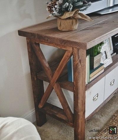 ساخت میز تلویزیون چوبی
