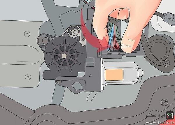 روش تعویض موتور بالابر شیشه پراید، پژو و ..