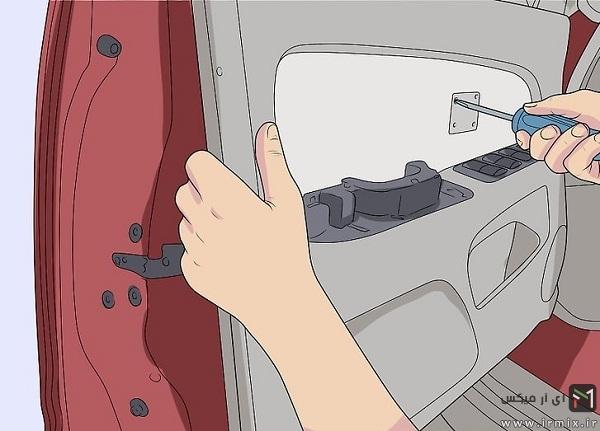 روش تعویض موتور بالابر شیشه پرایدف پژو و ..