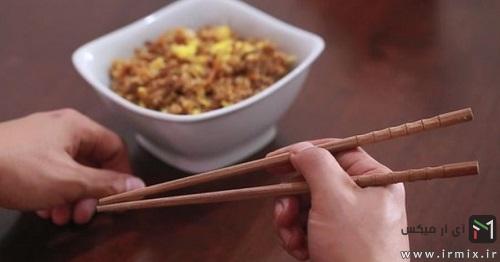 غذا خوردن با چاپستیک