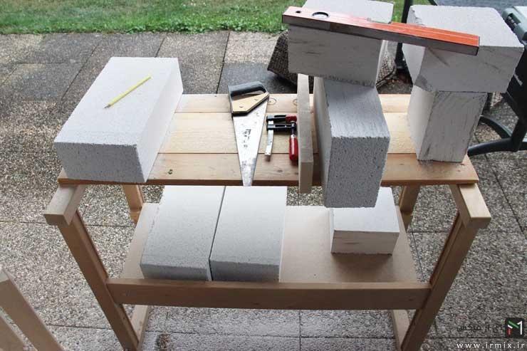 مراحل ساخت میز تلویزیون