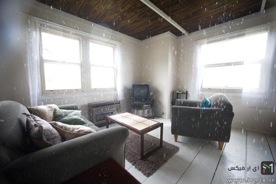 در داخل این خانه عجیب همیشه باران می بارد
