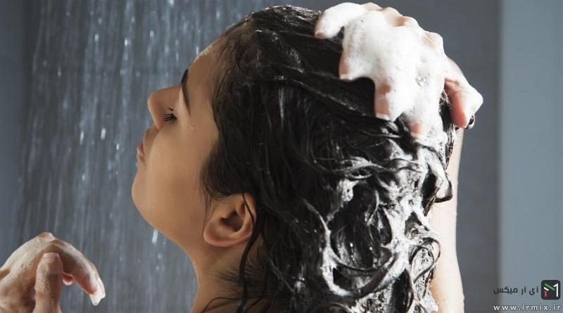روش کاربردی صحیح و روزانه شستن موی بلند بدون شامپو، با صابون و..