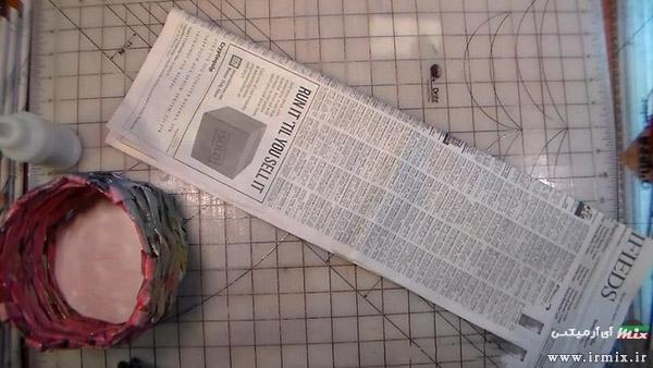 آموزش ساخت سبد با روزنامه
