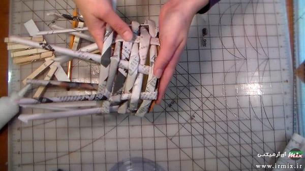 ساخت سبد با روزنامه