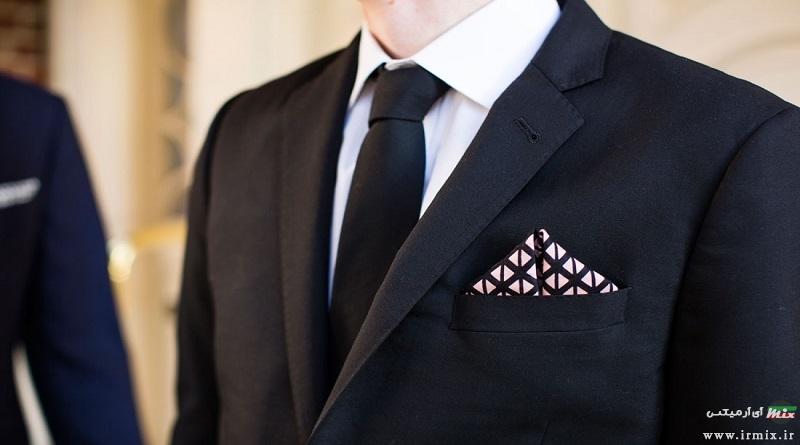 آموزش تصویری ۹ روش بستن دستمال جیب کت و شلوار