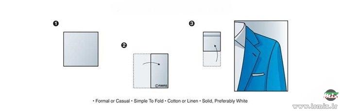 آموزش بستن دستمال جیب کت