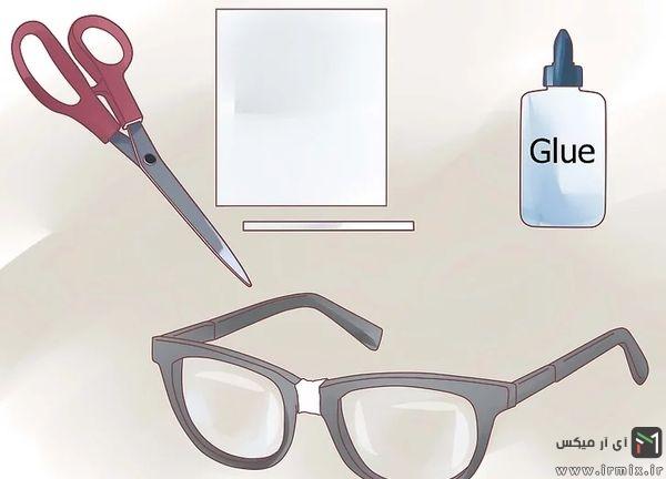 قیچی، چسب، کاغذ و عینک