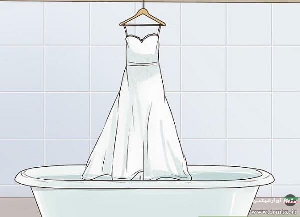شستن لباس عروس در ماشین لباسشویی
