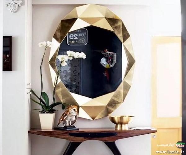 نصب آینه در پذیرایی
