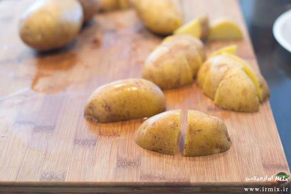 روش پخت سیب زمینی با نمک