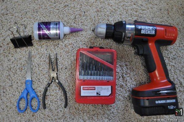 ابزار لازم برای ساخت چاقو چوبی
