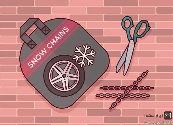 روش بستن زنجیر چرخ پراید