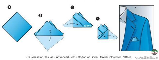 آموزش تا زدن دستمال جیب کت و شلوار