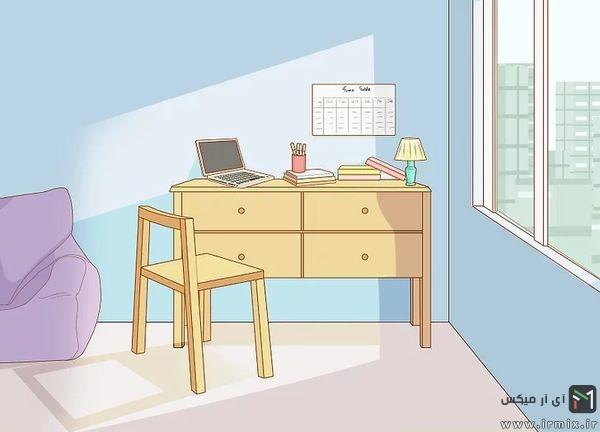 میز و صندلی کنار پنجره