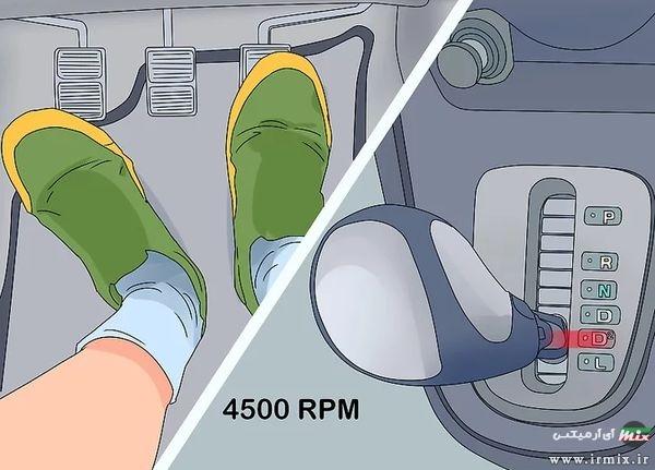 رانندگی با دنده اتوماتیک در سربالایی