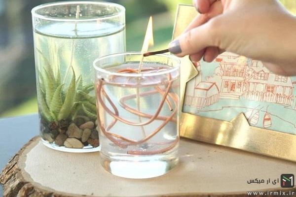 ساخت شمع ژله ای بدون حباب
