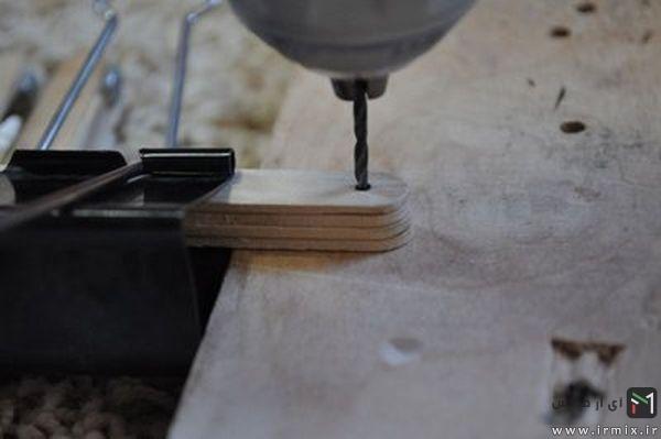 ساخت دسته چاقو با چوب