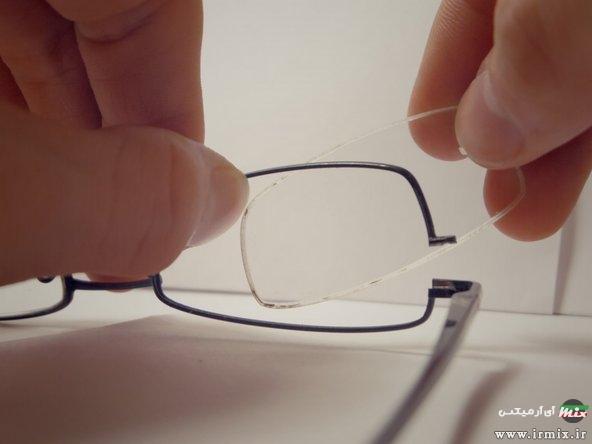اموزش جا انداختن شیشه عینک