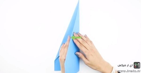 تا زدن مثلث ها در جهت طول