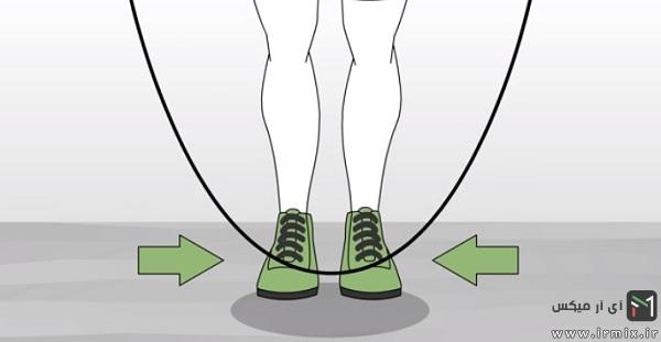 وقتی طناب به سمت جلو پاهای شما می آید، از روی آن بپرید