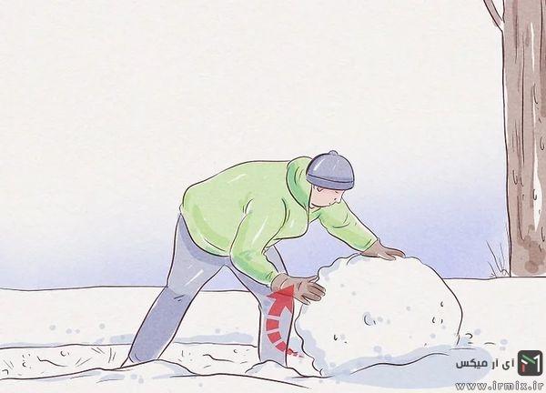روش ساخت آدم برفی