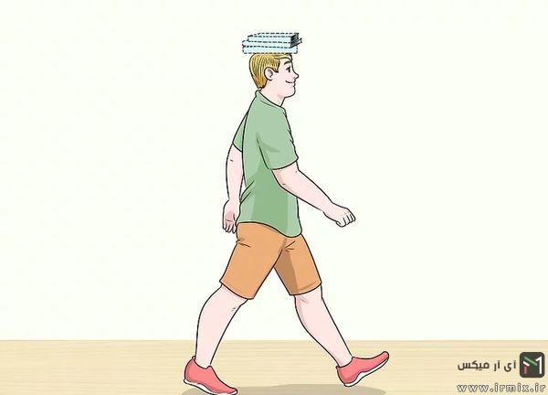قرار دادن کتاب روی سر