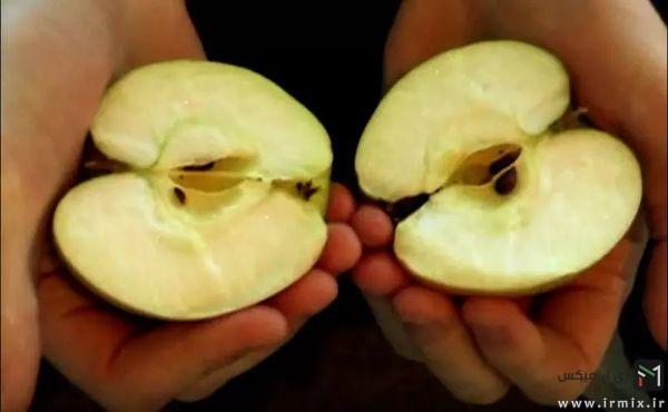 تقسیم سیب به دو نیم