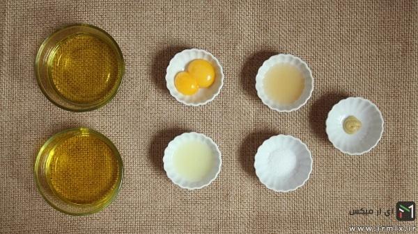 مواد لازم برای تهیه سس مایونز رژیمی