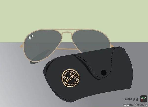 عینک ریبن به همراه قابش