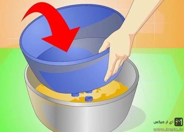 گذاشتن ظرف درون سیمان