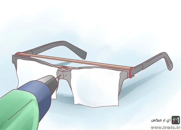 دریل و ایجاد سوراخ روی پل عینک
