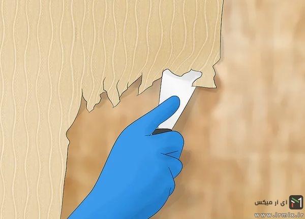 طریقه نصب کاغذ دیواری