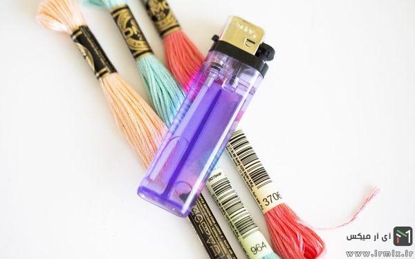 زیبا سازی فندک با استفاده از کاموا