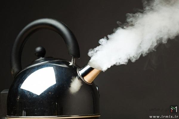 استفاده از بخار کتری