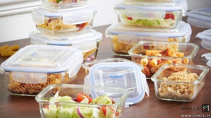 ظروف شیشه ای نگهداری مواد غذایی
