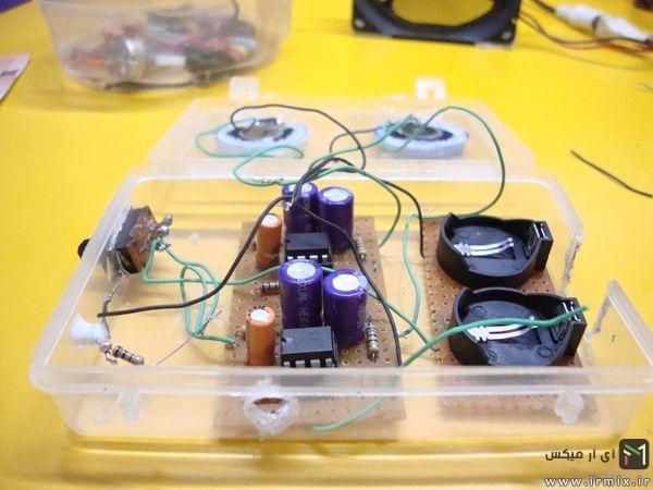 باتری ها را متصل کنید