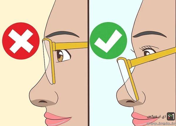 گذاشتن عینک روی نوک بینی