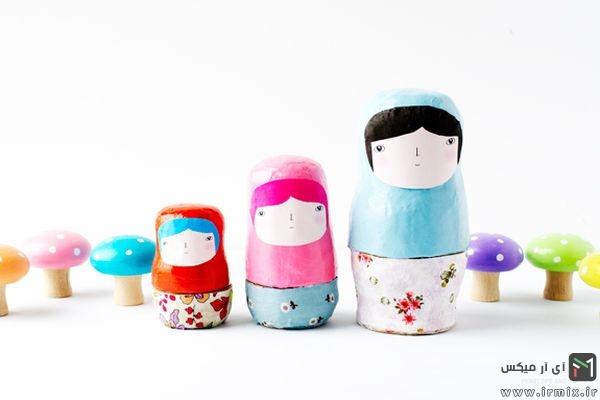 مرحله ششم ساخت عروسک روسی در خانه