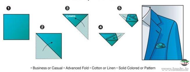 طریقه بستن دستمال جیب کت