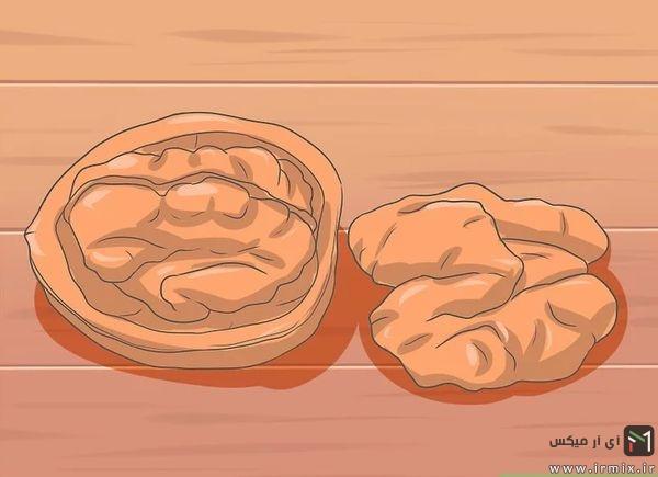 روش خشک کردن مغز گردو تازه