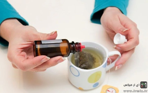 استفاده از فنجان چای کیسه ای با قطره چکان