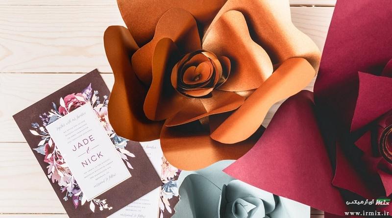 آموزش تصویری دو روش ساخت گل کاغذی زیبا برای تولد