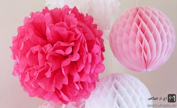 تزیین تولد با گل کاغذی