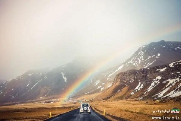 ژست عکس در باران