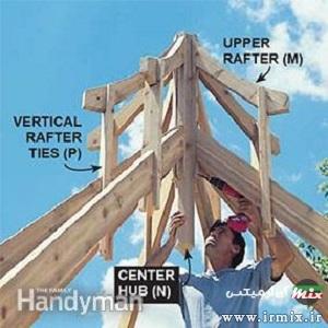 آموزش ساخت آلاچیق چوبی ساده
