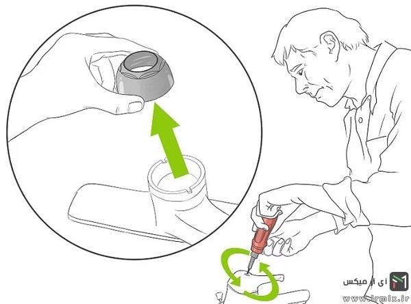 نحوه تعمیر شیر اهرمی با مغزی کارتریج