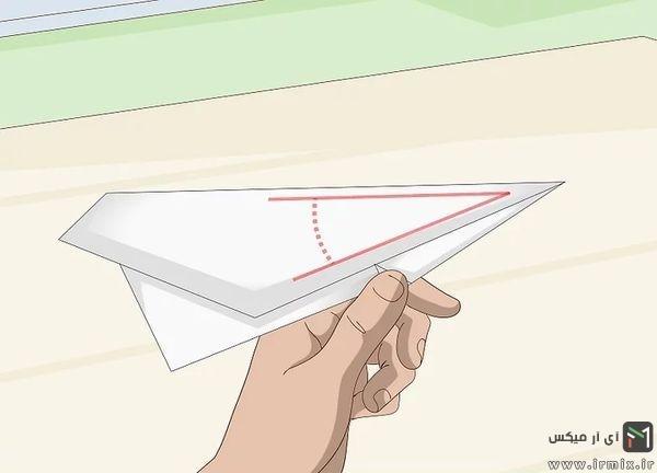 زاویه مناسب برای موشک کاغذی