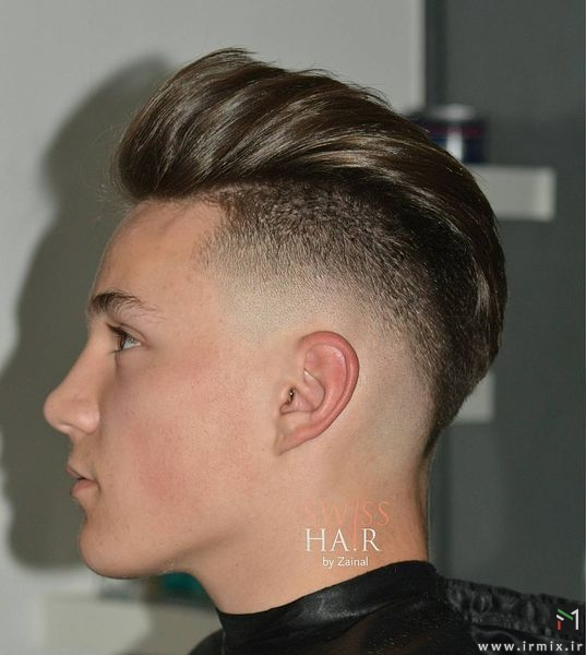 Pomp + Drop Fade Haircut