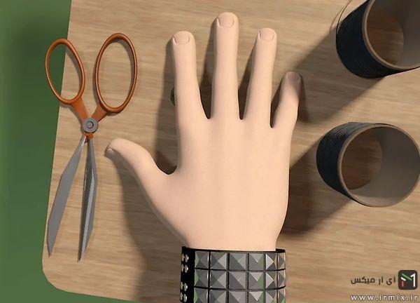 پایان بافت دستبند چرمی